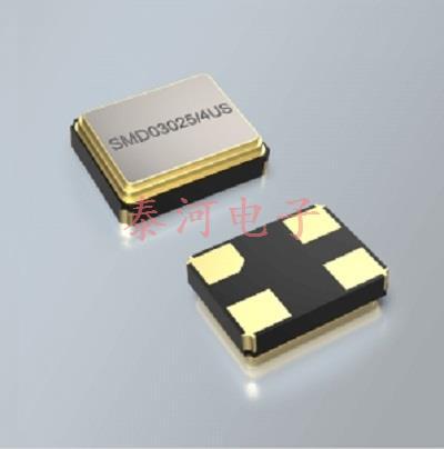 适用于超声波的低成本兆级系列耐高温石英晶体产品SMD03025/4US
