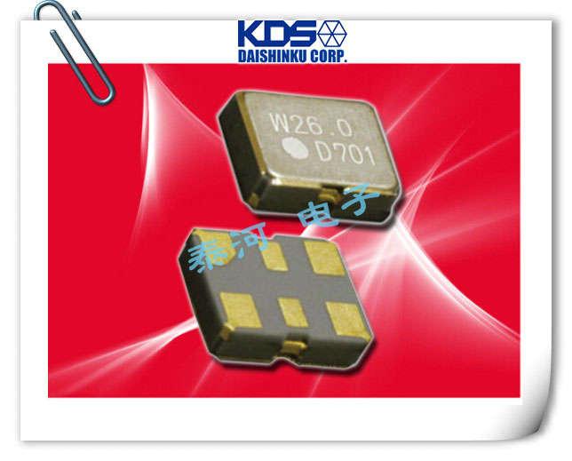 KDS晶振,贴片晶振,DSG211STA晶振,6脚GPS晶振