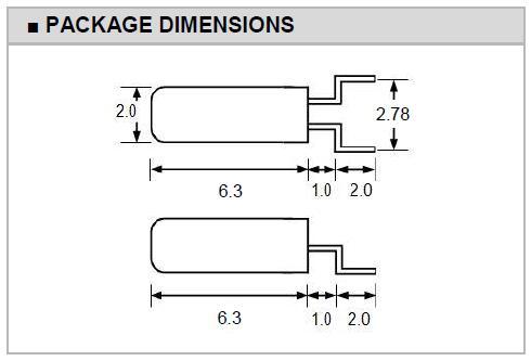 Transko晶振,石英晶振,2X6SMD晶振,弯脚音叉晶振