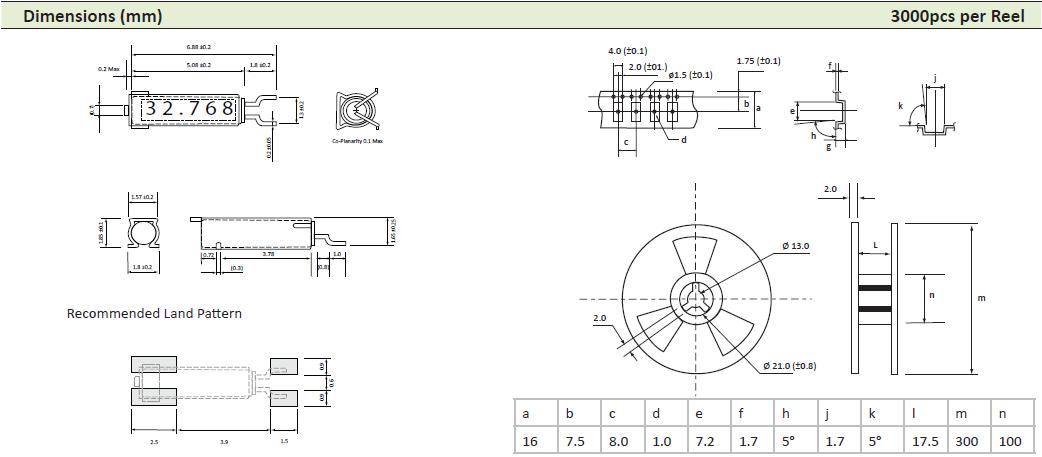 AEL晶振,贴片晶振,PMX-145FA晶振,2x6贴片弯脚晶振