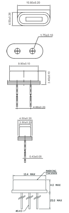 Cardinal晶振,石英晶振,CLP晶振,三脚49S插件晶振