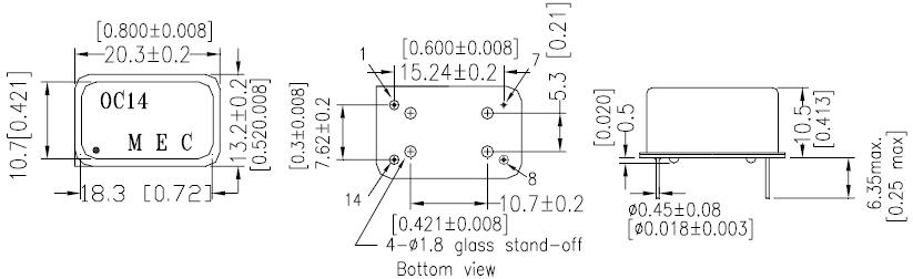 MERCURY晶振,石英晶振,OC14E5A晶振,OC14E5GA晶振
