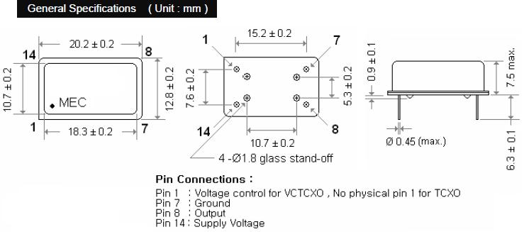MERCURY晶振,石英晶振,M14S晶振,DIP温补晶振