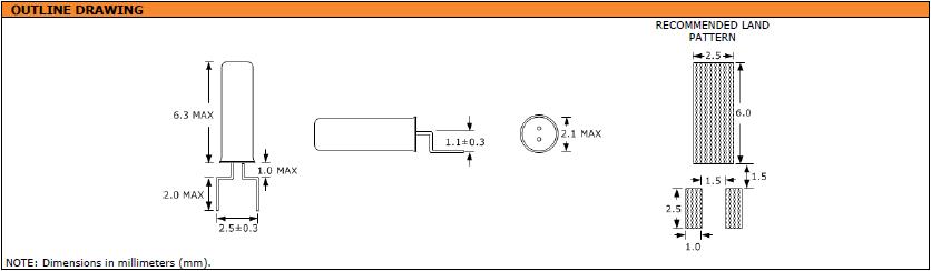 Suntsu晶振,石英晶振,SWG622晶振,鸥翼引线型2X6晶体