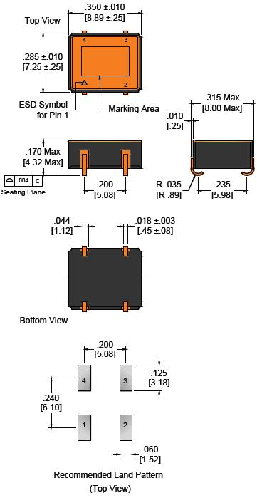 Wi2wi晶振,贴片晶振,DL4晶振,耐极端环境晶振