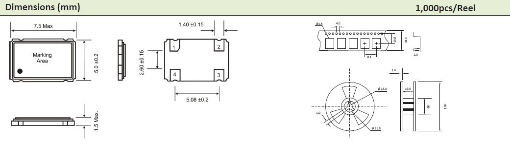 AEL晶振,贴片晶振,7x5mm晶振,HCMOS输出晶体振荡器