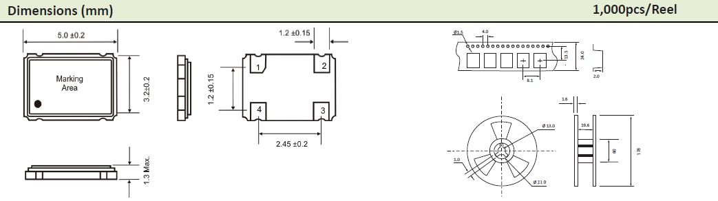 AEL晶振,贴片晶振,5x3mm晶振,HCMOS有源时钟晶振