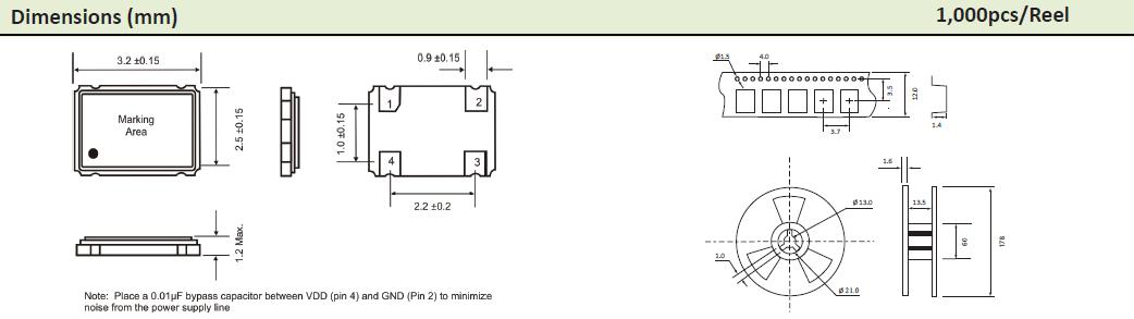 AEL晶振,贴片晶振,3x2mm晶振,HCMOS输出型OSC晶振