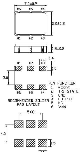 Cardinal晶振,石英晶振,CC137晶振,三态控制晶振