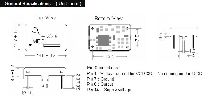 MERCURY晶振,贴片晶振,M39S晶振,DIP型温度补偿晶体振荡器