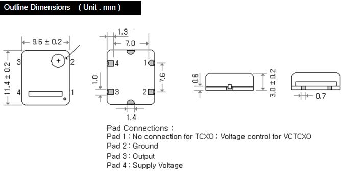 MERCURY晶振,贴片晶振,M43T晶振,温度补偿型CMOS输出晶振
