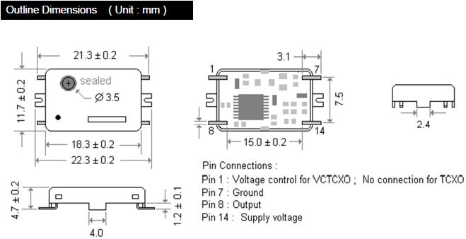 MERCURY晶振,贴片晶振,M47T晶振,台产CMOS输出振荡器