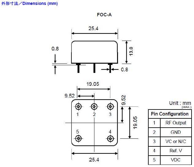 Fujicom晶振,石英晶振,FOC-A~F晶振,DIP恒温晶体振荡器