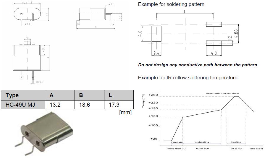 Quartzcom晶振,石英晶振,HC-49U MJ晶振,弯脚宽频率晶振