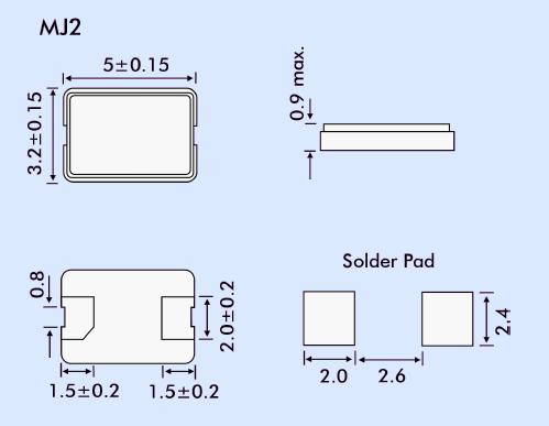 EUROQUARTZ晶振,贴片晶振,MJ2晶振,5032PDA掌上电脑晶振