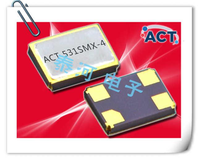 ACT晶振,贴片晶振,531-SMX-4晶振,5.0x3.2mm四脚晶体谐振器