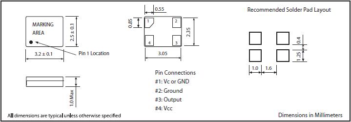 MTI-MILLIREN晶振,贴片晶振,406晶振,低功耗进口温补晶体振荡器