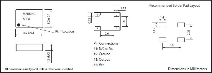 MTI-MILLIREN晶振,贴片晶振,405晶振,5.0*3.2mm美国进口TCXO晶振