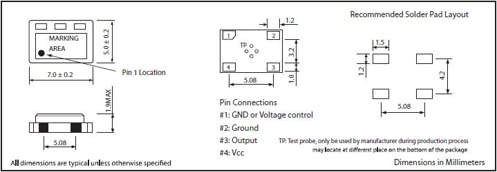 MTI-MILLIREN晶振,贴片晶振,404晶振,低电源电压7050晶体振荡器