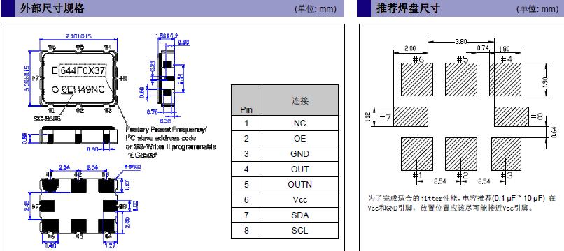 爱普生晶振,贴片晶振,SG-8506CA晶振,SPXO可编程晶体振荡器