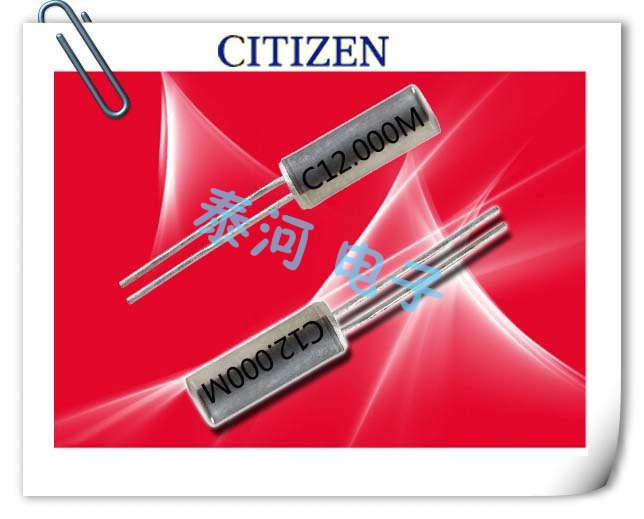 西铁城晶振,石英晶振,CSA-309晶振,CSA309-12.000MABJ晶振