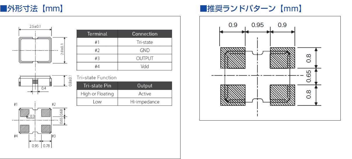 西铁城晶振,贴片晶振,CSX-252FA晶振,普通时钟有源振荡器