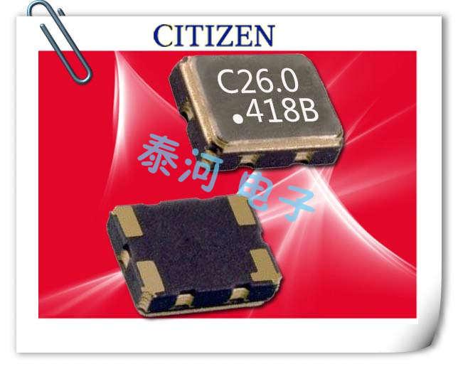 西铁城晶振,贴片晶振,CSX-325T晶振,可回流式低压晶体振荡器