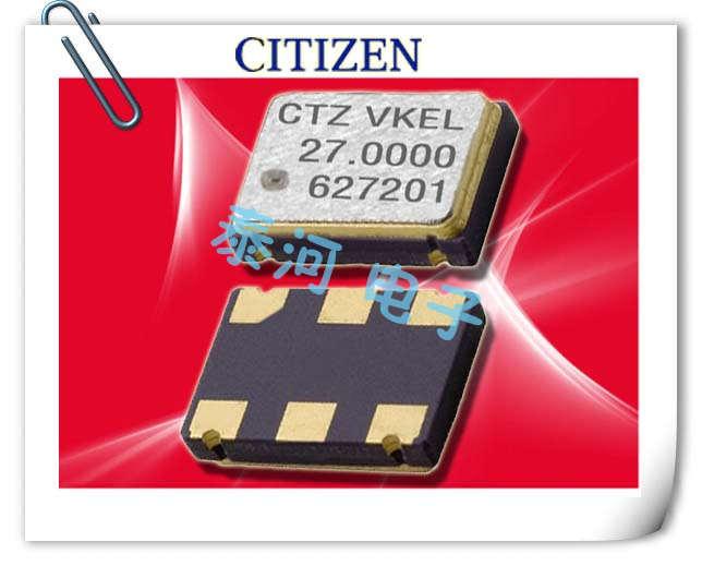 西铁城晶振,贴片晶振,CSX-750VJKL晶振,低频通讯环保晶振
